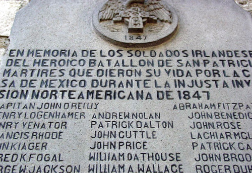 Nombre:  Placa_conmemorativa_Batallon_de_San_Patricio.jpg Visitas: 737 Tamaño: 133.6 KB
